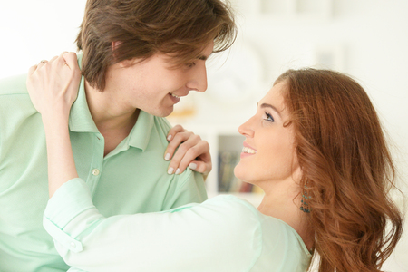 Portrait of a happy young couple in love