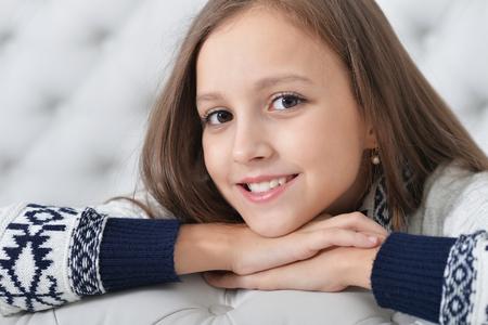 portrait of cute girl posing