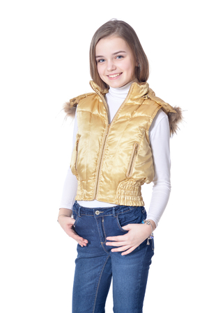 Happy little girl posing 写真素材