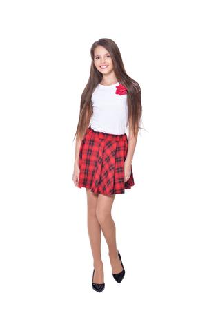 beautiful girl in skirt  posing