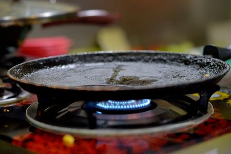 frying pan heating