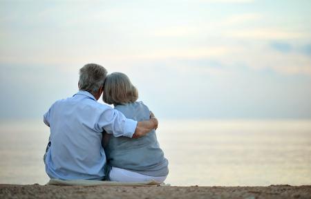 Senior couple looking a sea Reklamní fotografie
