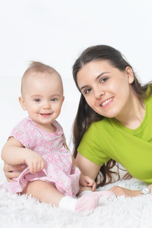 young woman with  baby girl