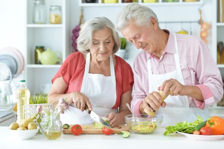 parents preparing to eat Stock Photo