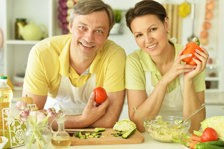 the husband and wife cook