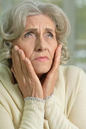 Bored senior woman