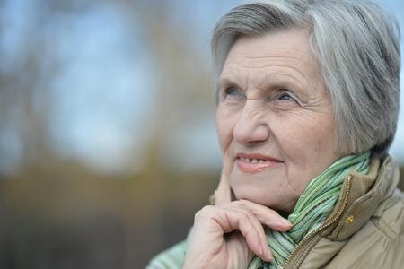 belle femme aînée Banque d'images