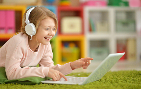 girl using modern laptop Фото со стока - 120155479