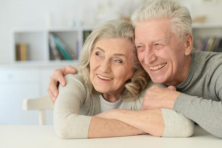 행복 한 노인 부부 스톡 콘텐츠