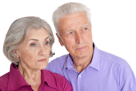 Portrait of senior couple husband and wife