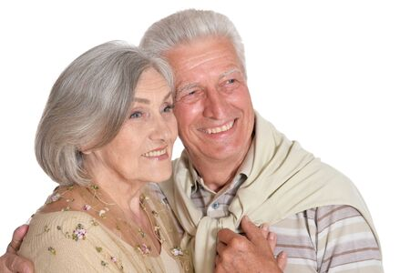 Portrait of happy senior couple holding hands