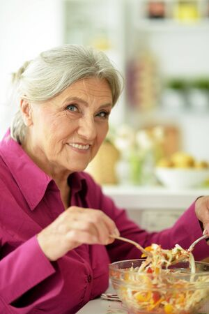 Close up portrait of senior woman chef portrait