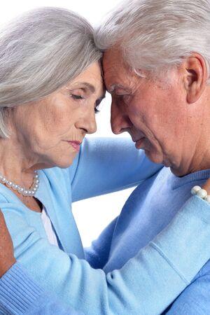 Close up portrait of sad senior couple Stok Fotoğraf