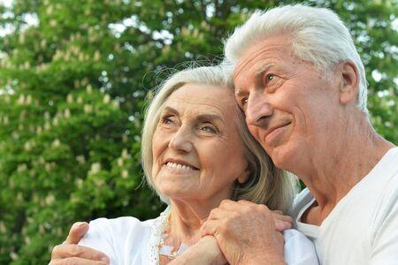 Close up portrait of beautiful senior couple posing Reklamní fotografie