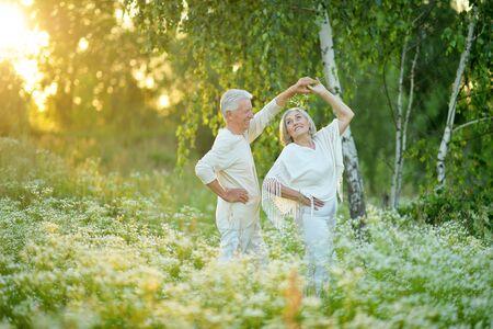 Portrait of a happy senior couple dancing Reklamní fotografie