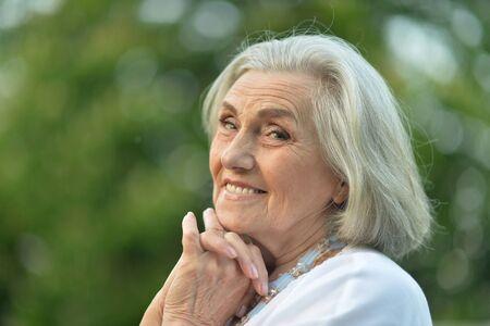Close up portrait of happy elderly woman Reklamní fotografie
