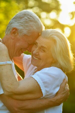 Portrait of beautiful senior couple in the park Reklamní fotografie