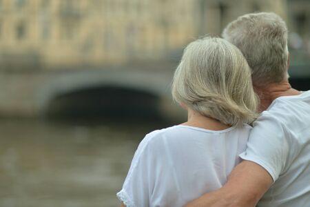 Portrait of beautiful happy mature couple traveling Reklamní fotografie
