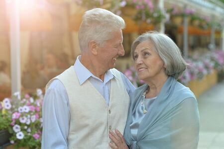 Portrait of a beautiful caucasian senior couple