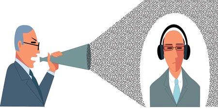 Problemen in de communicatie Stock Illustratie