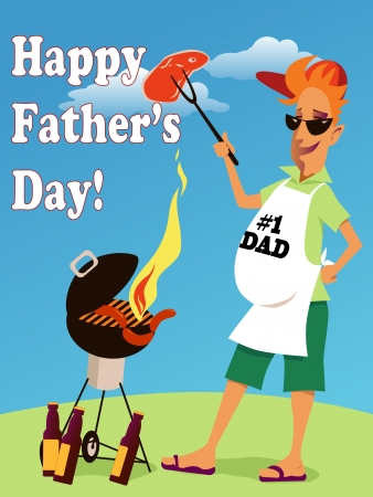 manly: Father s Day Illustration