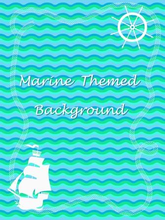 Marine background Иллюстрация
