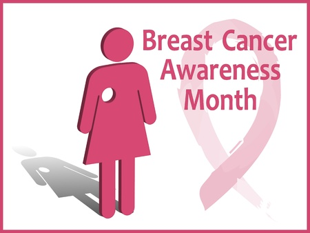 Breast cancer awareness month card
