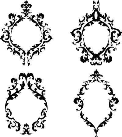 Ornate baroque frames set
