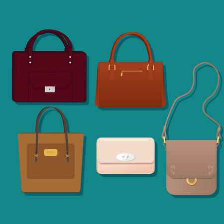 Realistic purses set Illustration
