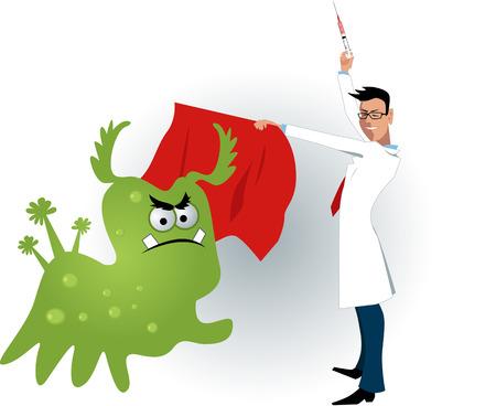 백신 샷 바이러스를 길들이기 의사