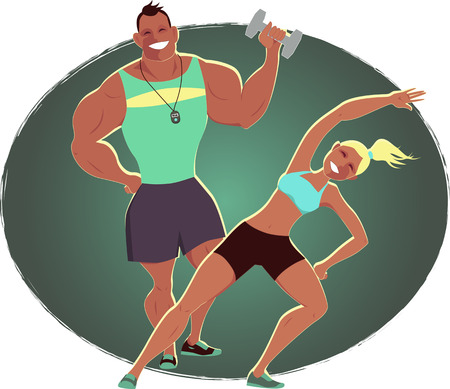 fitness instructor: Fitness instructor and personal trainer