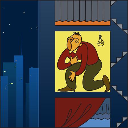 apartment shortage: Housing crisis in a big city Illustration