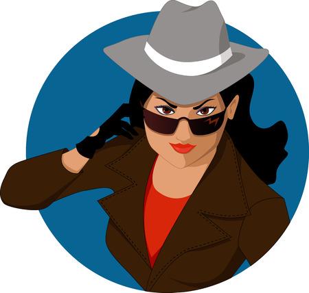Secret agent girl Vector