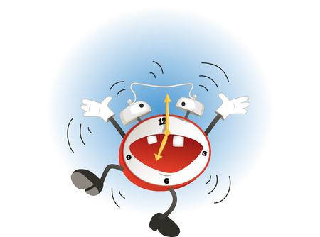 面白い漫画目覚まし時計ジャンプとリンギング