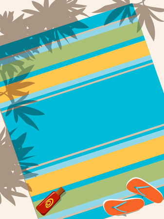 beach towel: Beach towel   Illustration