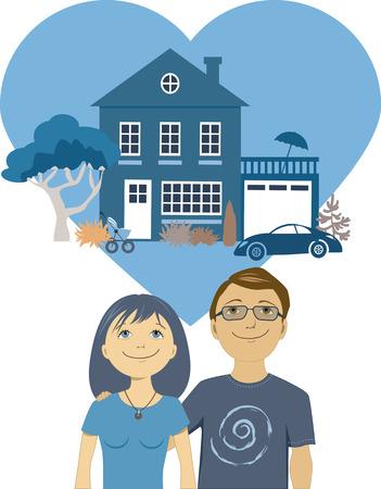 Junge Paare, die ein Leben aufzubauen zusammen Standard-Bild - 26628525