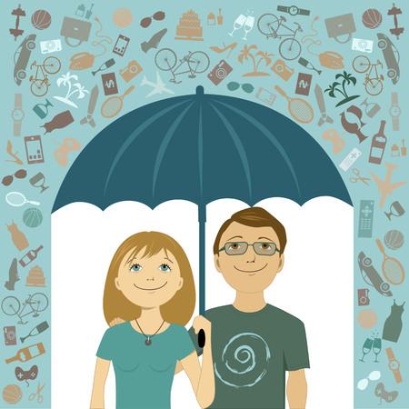 happy couple: Simple living