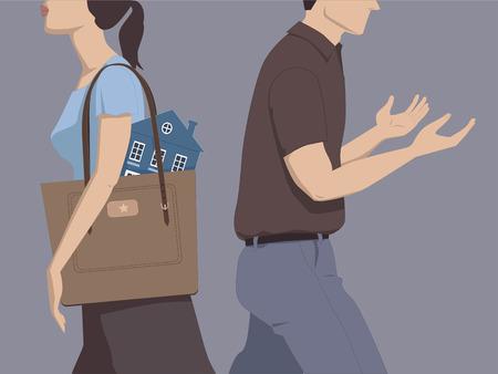 Il divorzio e la divisione dei beni Vettoriali