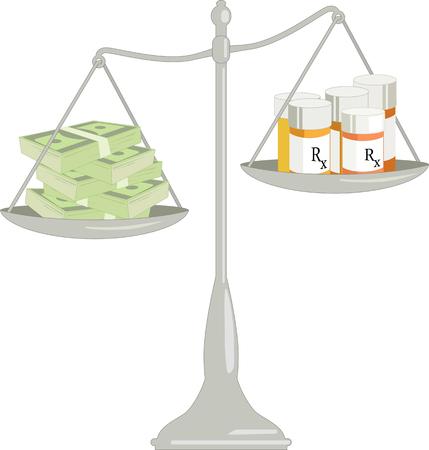 건강 보험의 비용 일러스트