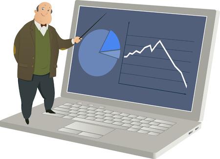 computer education: Online teaching Illustration