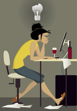 Writer on work Illustration