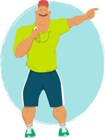Cartoon sport coach Illustration