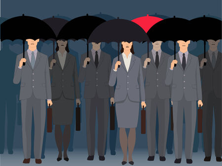 pessimist: Stand out from the crowd Illustration