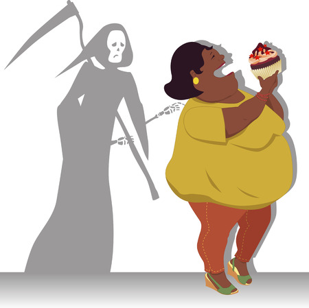 Peligro de la obesidad Foto de archivo - 28912670
