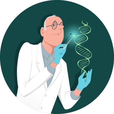 遺伝子工学  イラスト・ベクター素材