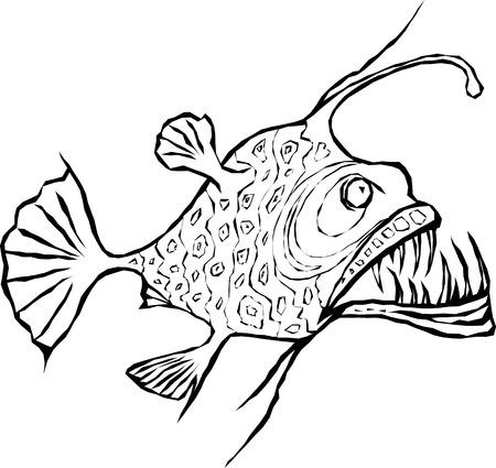 낚시꾼 물고기 디자인 요소