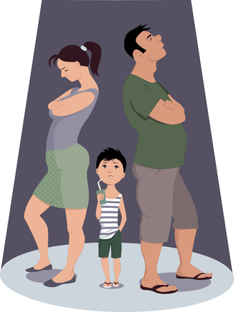 divorce: Divorce hurts children Illustration