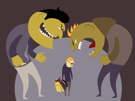threat: Bullies and a kid