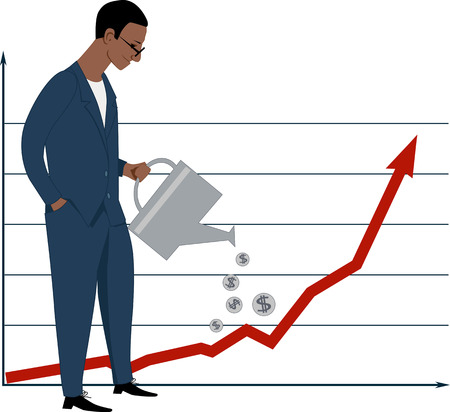 investor: Investing in stock market Illustration