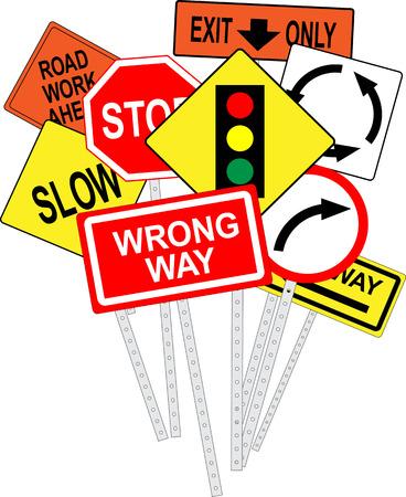 Road signs Banco de Imagens - 30525111